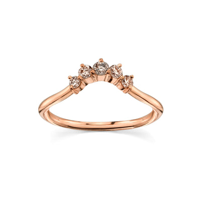 Champagne Mini Headdress Ring - Marrow Fine