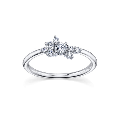 White Diamond Charlotte Mini Cluster Ring