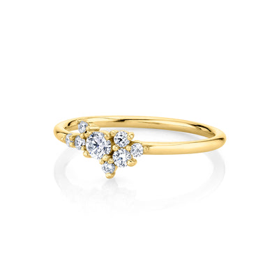 White Diamond Charlotte Mini Cluster Ring - Marrow Fine