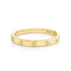 White Diamond Star Set Stacking Ring - April - Marrow Fine