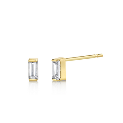 Diamond Baguette Stud Earrings - April - Marrow Fine