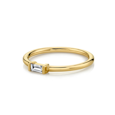 Diamond Straight Baguette Stacking Ring - April - Marrow Fine
