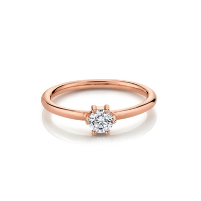 Diamond Solitaire Stacking Ring - April - Marrow Fine
