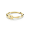 Diamond Plate Stacking Ring - April - Marrow Fine