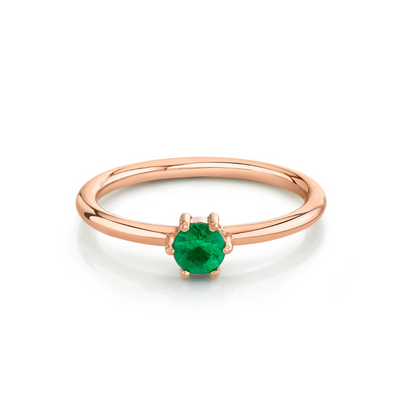 Emerald Solitaire Stacking Ring - May - Marrow Fine