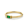 Emerald Straight Baguette Stacking Ring - May - Marrow Fine