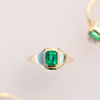 .72ct Emerald Signet Boyfriend Ring