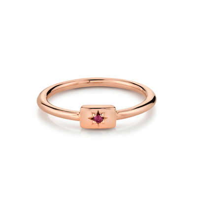 Garnet Plate Stacking Ring - January - Marrow Fine