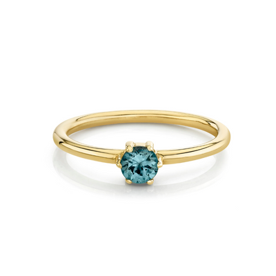 Grey Spinel Solitaire Stacking Ring - August - Marrow Fine