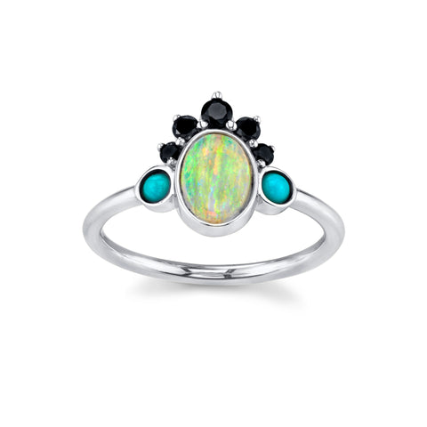 Gypset Opal Headdress Ring - Marrow Fine