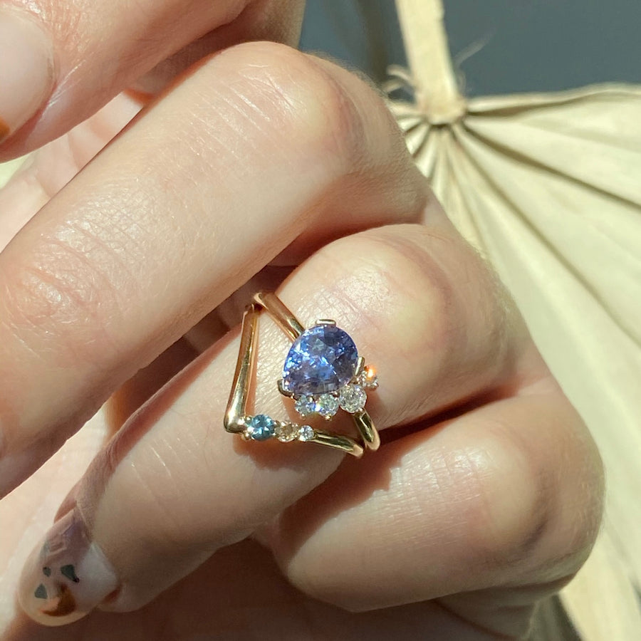 Lilac Sapphire Spray Ring