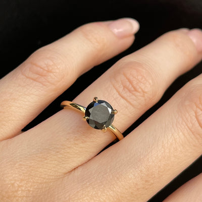 Black Diamond Round Solitaire