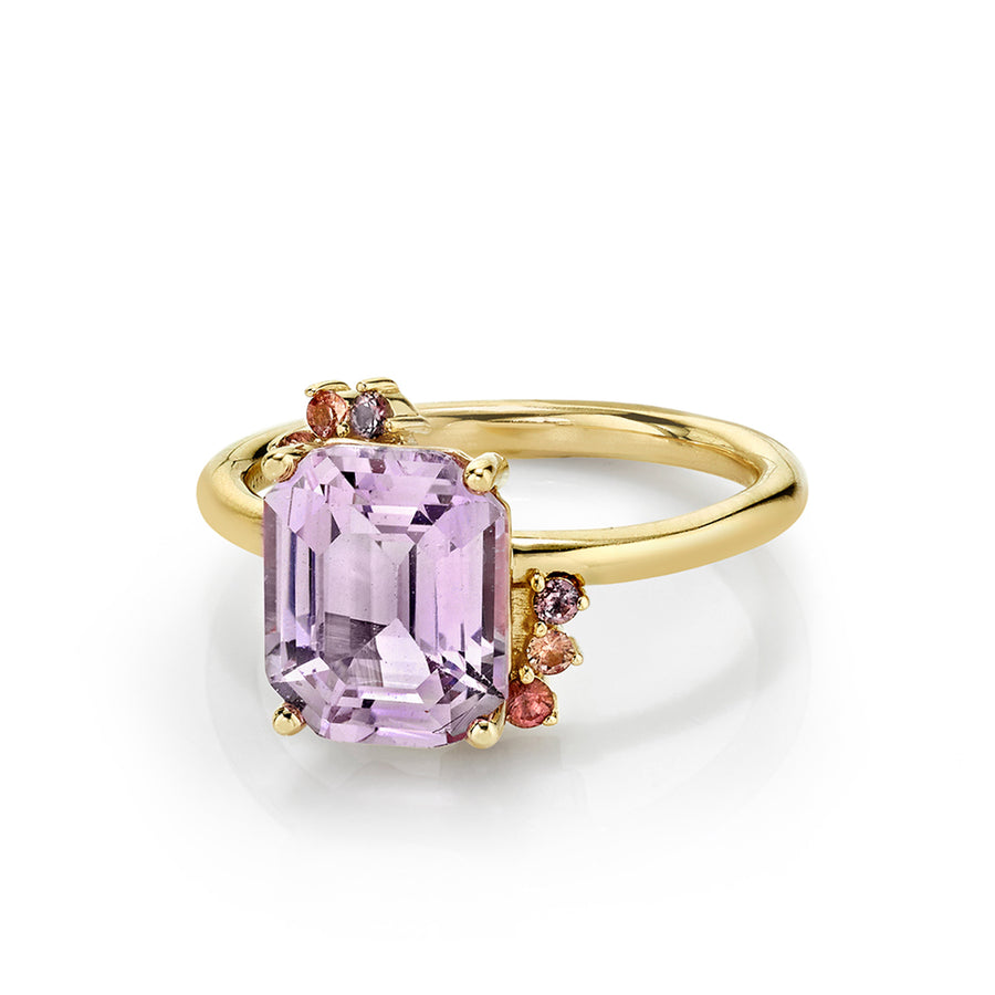 Lavender Pink Sapphire Spray Ring - Marrow Fine