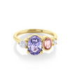 2.04ct Lavender Sapphire Linear Ring