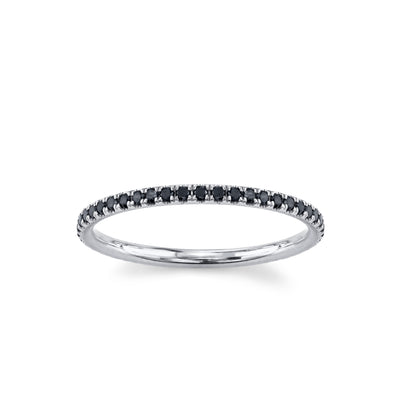 Love Goes Round Black Diamond Eternity Band