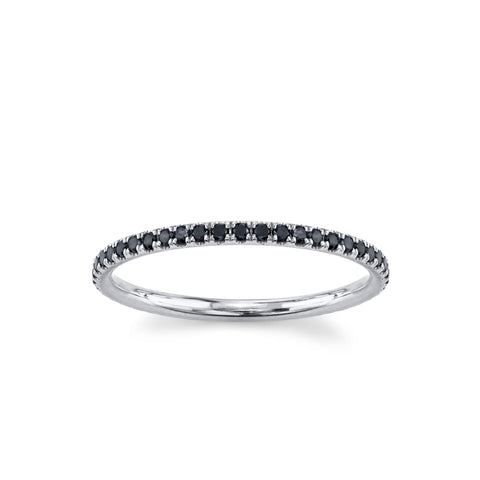 Love Goes Round Black Diamond Eternity Band - Marrow Fine
