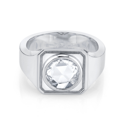 Men's Rose Cut Signet Ring - Marrow Fine