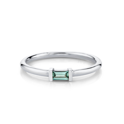 Montana Sapphire Straight Baguette Stacking Ring