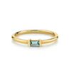 Montana Sapphire Straight Baguette Stacking Ring - Marrow Fine