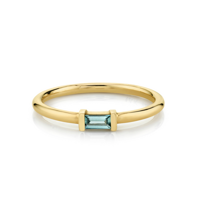 Montana Sapphire Straight Baguette Stacking Ring – September - Marrow Fine