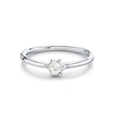 Moonstone Solitaire Stacking Ring - June - Marrow Fine