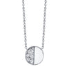 Under the Perfect Moon Pendant - Quarter Moon - Marrow Fine