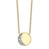 Under the Perfect Moon Pendant - Crescent Moon - Marrow Fine