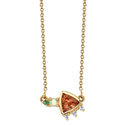 Sunstone Trillion Necklace - Marrow Fine