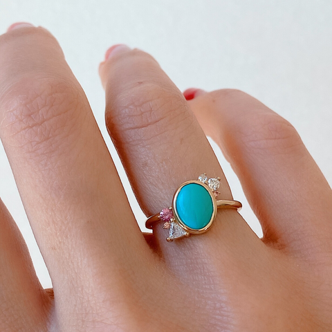 Arizona Turquoise Cluster Ring - Marrow Fine