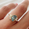 Mermaid Tail Aquamarine Cluster Ring - Marrow Fine