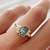 Mermaid Tail Aquamarine Cluster Ring