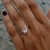 Pink Oval Sapphire Cluster Ring