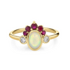 Ruby Gypset Headdress Ring
