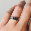 Montana Sapphire Hexagon Stacking Ring