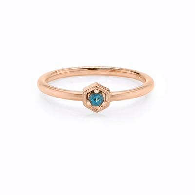 Color-Change Garnet Stacking Ring