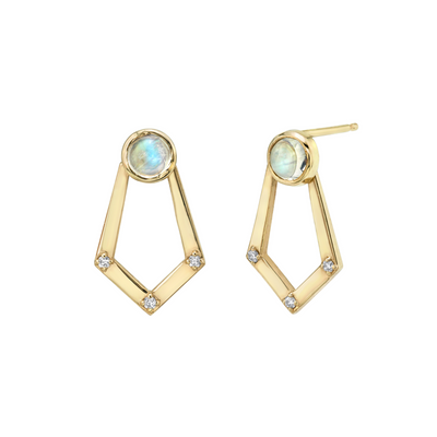 Moonstone Knocker Earrings - Marrow Fine