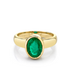 2.58ct Emerald Oval Bezel Ring