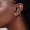 Curved Pearl Ear Climbers