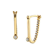 Pearl & Diamond Pavé Arch Hoops - Marrow Fine