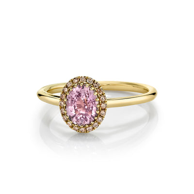 Pink Sapphire Perfect Halo Engagement Ring - Marrow Fine
