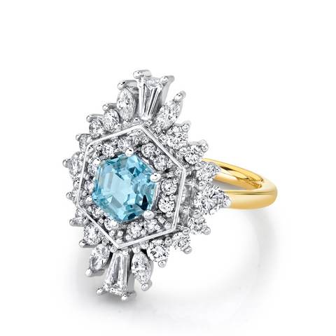 .99ct Aquamarine Stella Art Deco Ring