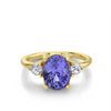 3.68ct Purple Sapphire Three-Stone Ring