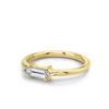 White Diamond Bullet Stacking Ring