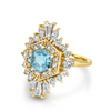 .92ct Aquamarine Stella Art Deco Ring