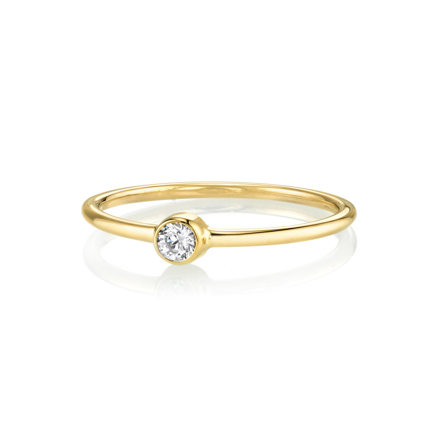 White Diamond Sweet Pea Stacking Ring - Marrow Fine