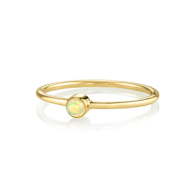 Opal Sweet Pea Stacking Ring
