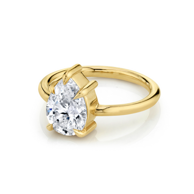The Arielle Pear Solitaire Engagement Ring