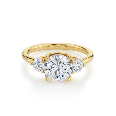 The Elspeth Three Stone Engagement Ring - Marrow Fine
