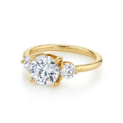 The Elspeth Three Stone Engagement Ring