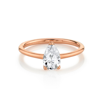 The Lola Pear Solitaire Engagement Ring